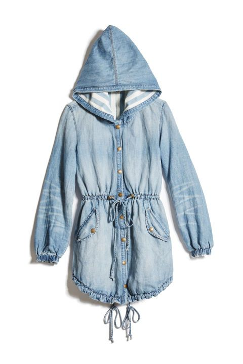 Guess Reversible Denim Parka, $299; http://fave.co/2bg3jPE