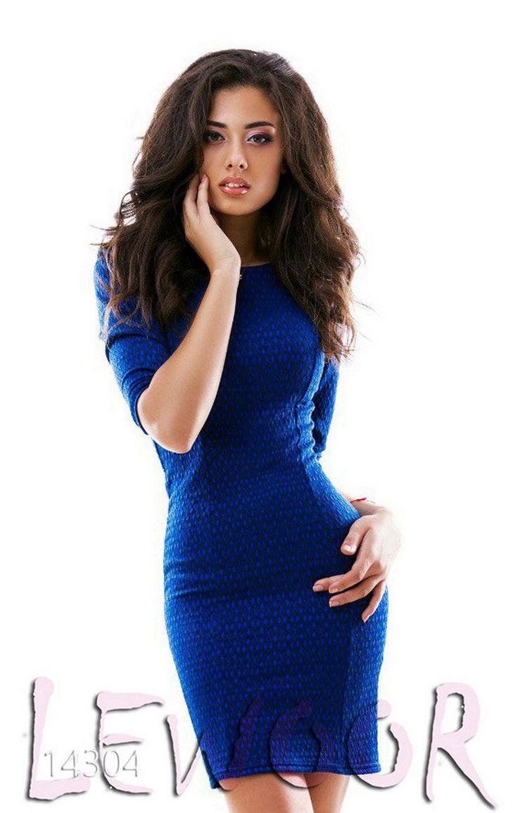 Жаккардовое платье облегающее - купить оптом и в розницу, интернет-магазин женской одежды lewoor.com
