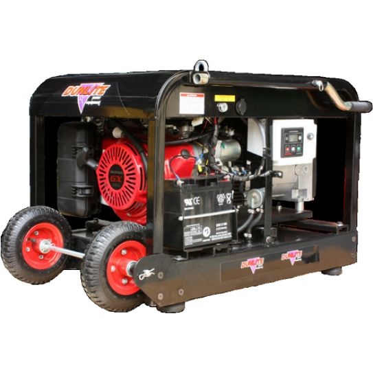 Honda 8kVA Auto Start by Dunlite.  This generator features remote start and automatic start capability. Designed for back up to off grid solar or backup to your home mains power, this generator comes inbuilt with a 2 wire Smartgen controller to enable automatic start and stopping