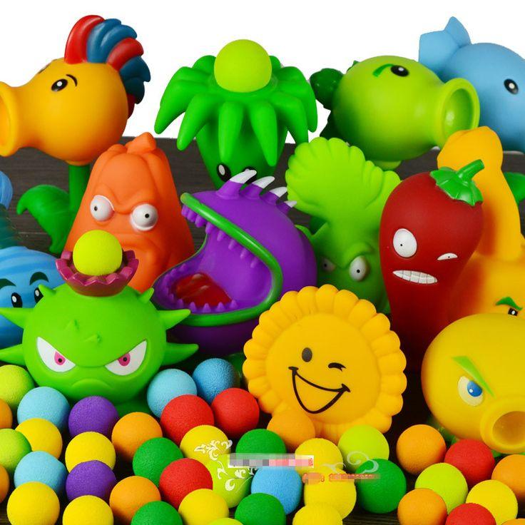 Plants vs Zombies Action Figure Giocattolo del PVC, PVZ Pianta + Zombie Figure Giocattoli Per I Bambini di Imballaggio In Sacchetto di Opp