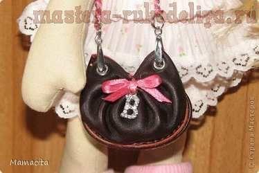 Мастер-класс: Кожаная сумочка для куклы - bag tutorial