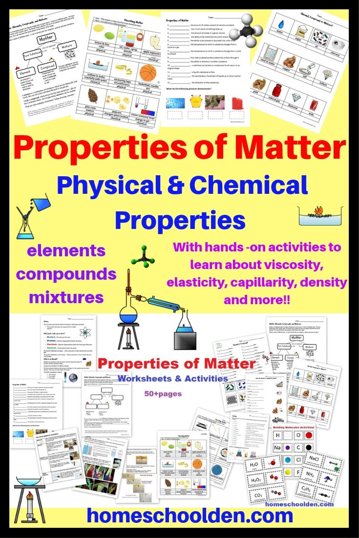 Properties Of Matter Worksheets And Activities Matter Worksheets Properties Of Matter Physical And Chemical Properties