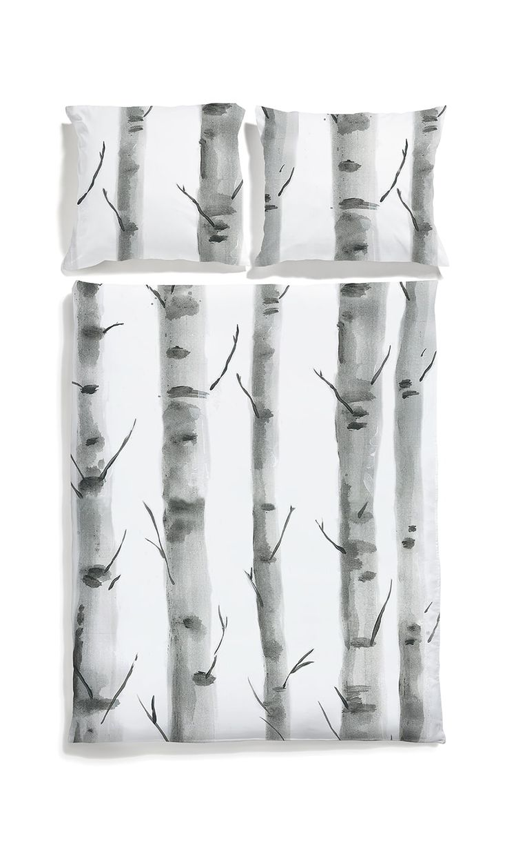 White pocket bedding #birchwood #bedlinen #grey