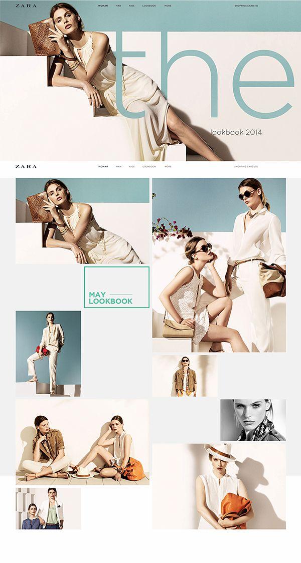 Zara online redesign on Behance