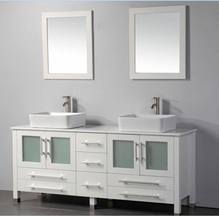 Die besten 25 badezimmer zwei waschbecken ideen auf pinterest beton cire edelstahl - Badezimmer zwei waschbecken ...