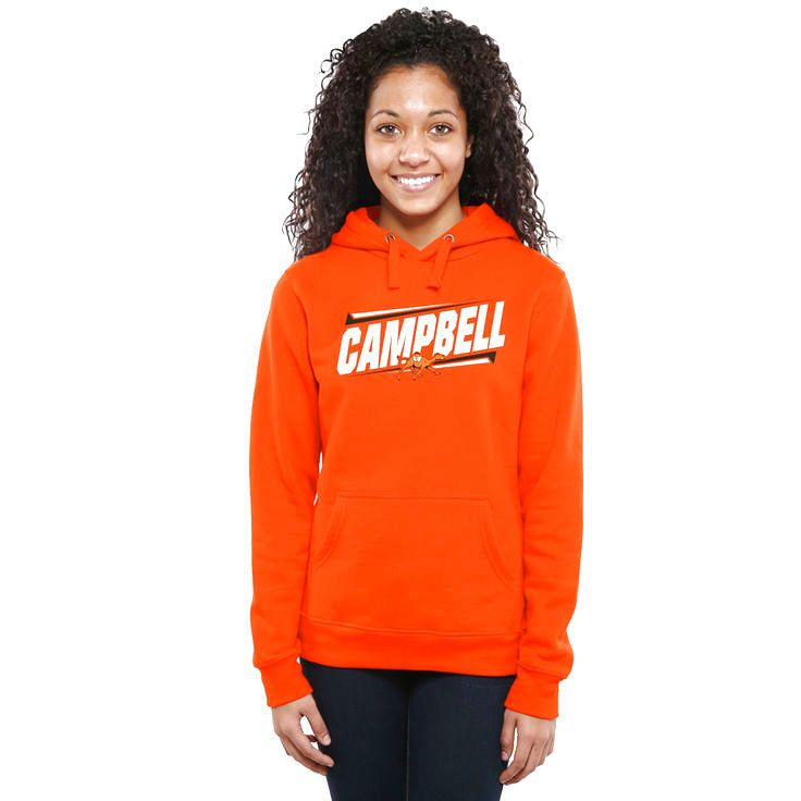 Campbell Fighting Camels Women's Double Bar Pullover Hoodie - Orange - $54.99