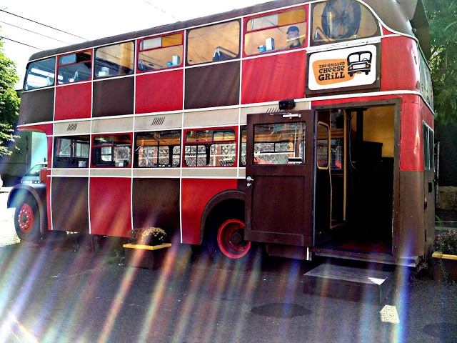 Food Carts - The Grilled Cheese Grill - double decker bus www.insuremycateringbusiness.com