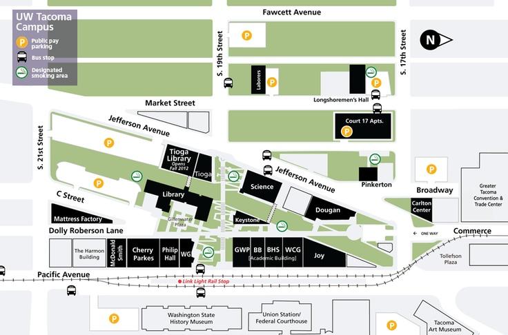 uw tacoma campus map