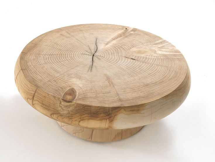Beautiful coffee table from solid wood, star for a living-room