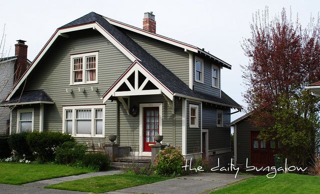 17 best images about bungalow on pinterest exterior for Bungalow paint schemes