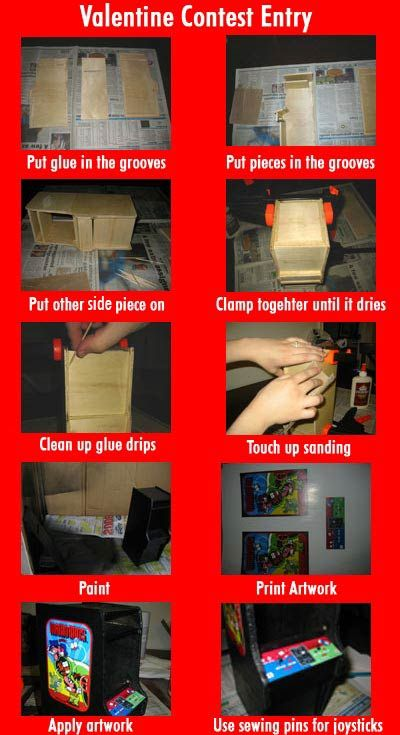 Melarky » Mini Mario Bros. Cabinet – Valentines Box Contest