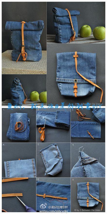 Fer una bossa amb uns texans vells