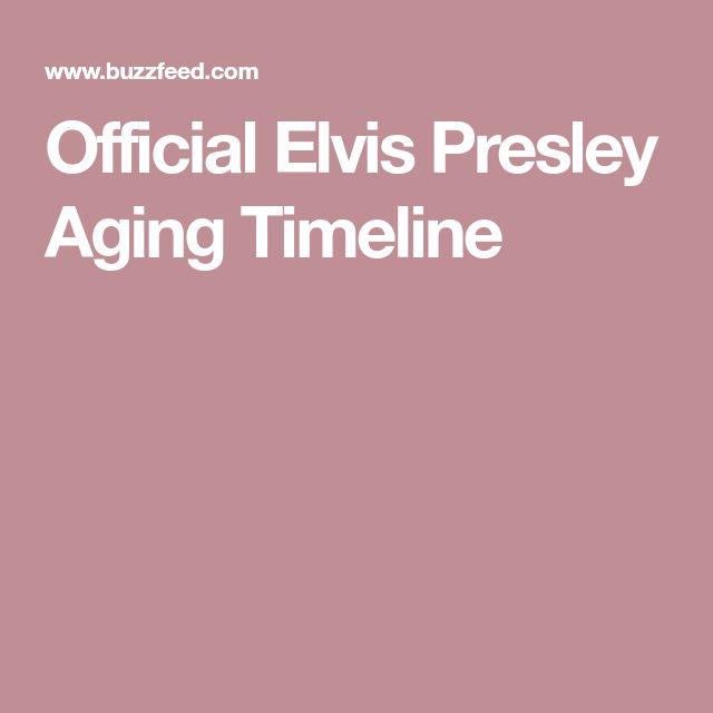 Official Elvis Presley Aging Timeline