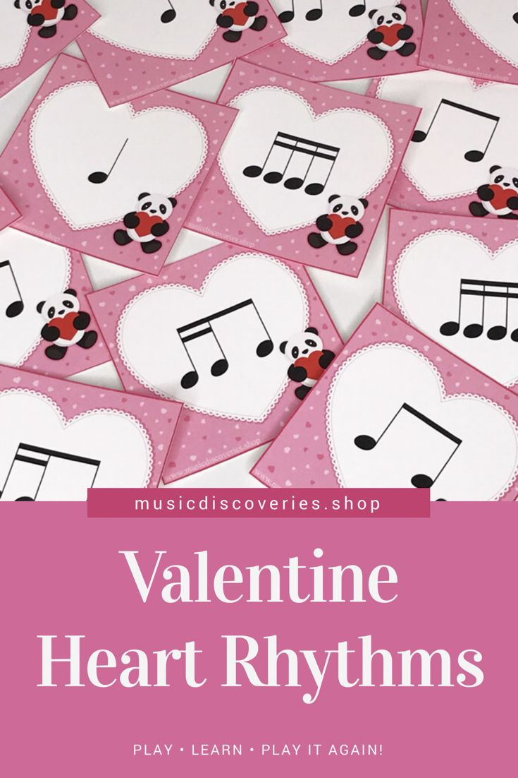 Printable heart rhythm cards for Valentines Day. So adorable! #pianoteachingideas