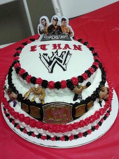 Ww Wrestling Cake Cakes Pinterest Wrestling Cake
