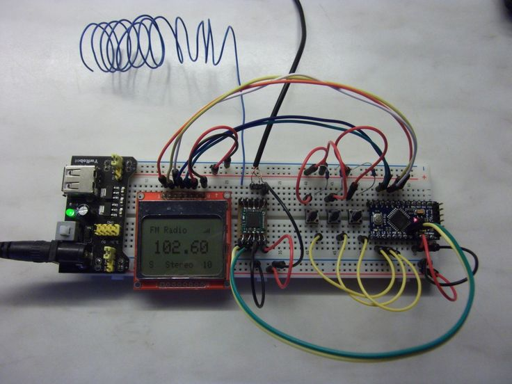 FM Receiver Circuit Using Arduino Circuit diagram
