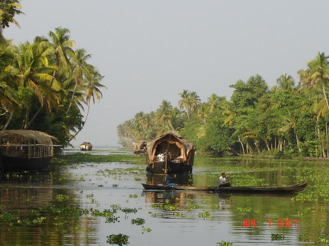 """""""Got Places To Go and People To See!"""" (River and Houseboat in Kerala)"""