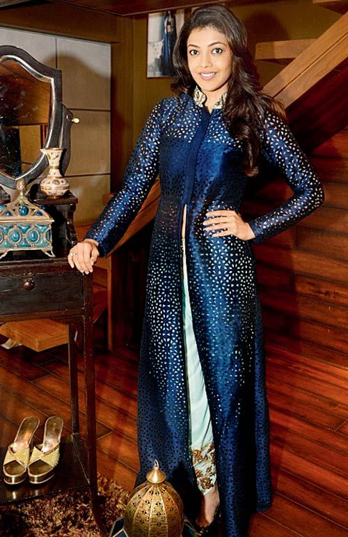 Kajal Aggarwal posing for designer showcasing Istanbul. #Bollywood #Fashion #Style #Beauty
