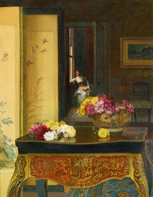 Jessica Hayllar (1858-1940)  —  Far Away Thoughts (500x644):