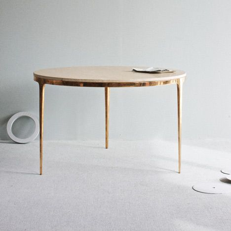 Bronze Table by Barbera Design.