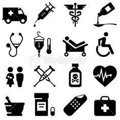 Medical Icons - Black Series Royalty Free Stock Vector Art Illustration