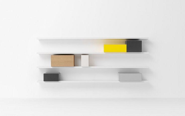 Pastoe - Pastoe Cupboards: Vision - VISION_PLANKEN_AAN_DE_WAND. Design: karel boonzaaijer, pierre mazairac - 1985
