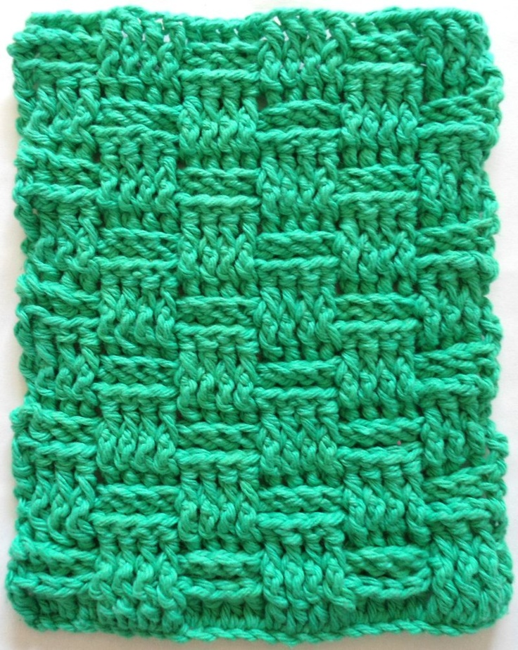 Knitted Basket Weave Dishcloth Pattern : 100 best images about crochet dishcloths on Pinterest
