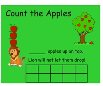 How Many Apples Up on Top? - Ten Frames on Smart Board: Idea, Student, Class Book
