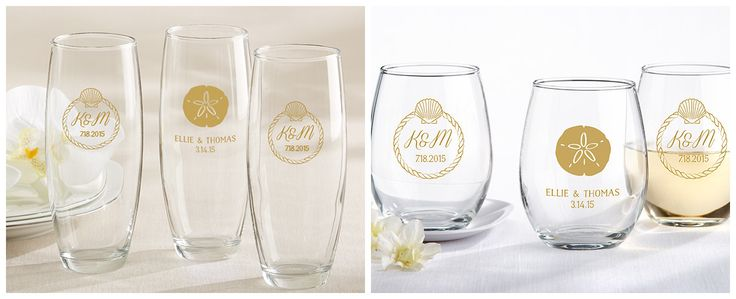 Personalized Beach Themed Glassware from HotRef.com