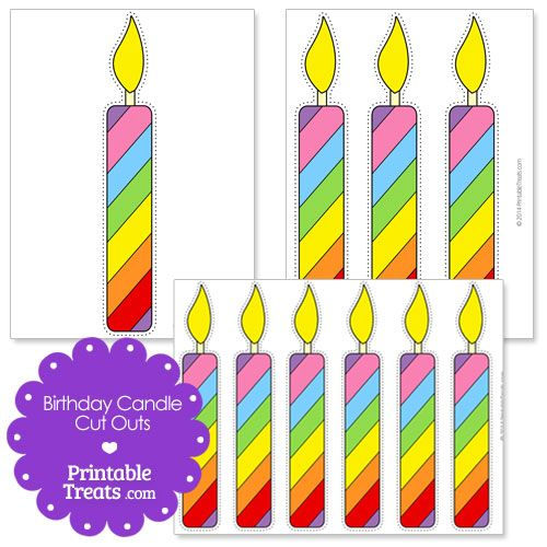 Printable Birthday Candle Cut Outs From PrintableTreats