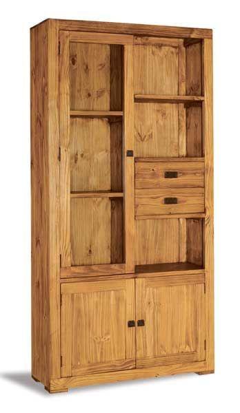 #Vitrina #rústica de estilo #mejicano, para #bodegas o cocinas rústicas. Más información en: http://rusticocolonial.es/mueble-rustico-y-mueble-mejicano-de-gran-calidad-al-mejor-precio/muebles-de-salon-rusticos-y-mejicanos-de-gran-calidad-al-mejor-precio