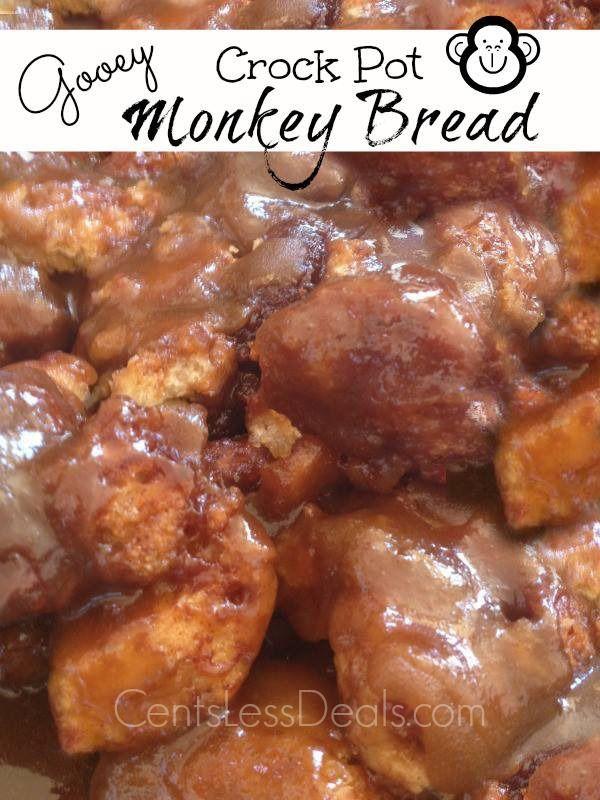 Gooey Crock Pot Monkey Bread! Woah. This looks amazing and super quick!!