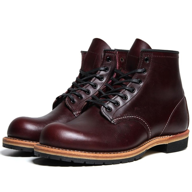 Red Wing 9011 Beckman 6 Round Toe Boot (Black Cherry Featherstone)