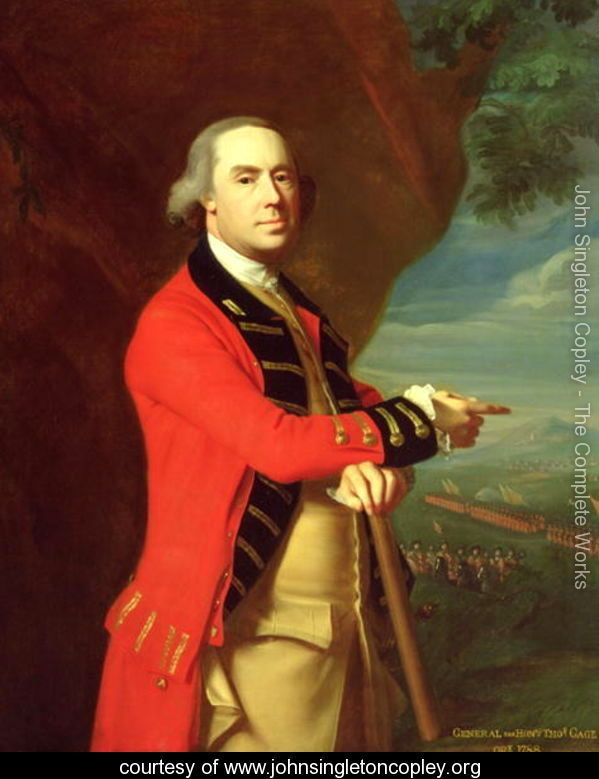 Portrait of General Thomas Gage, c.1768 - John Singleton Copley - www.johnsingletoncopley.org