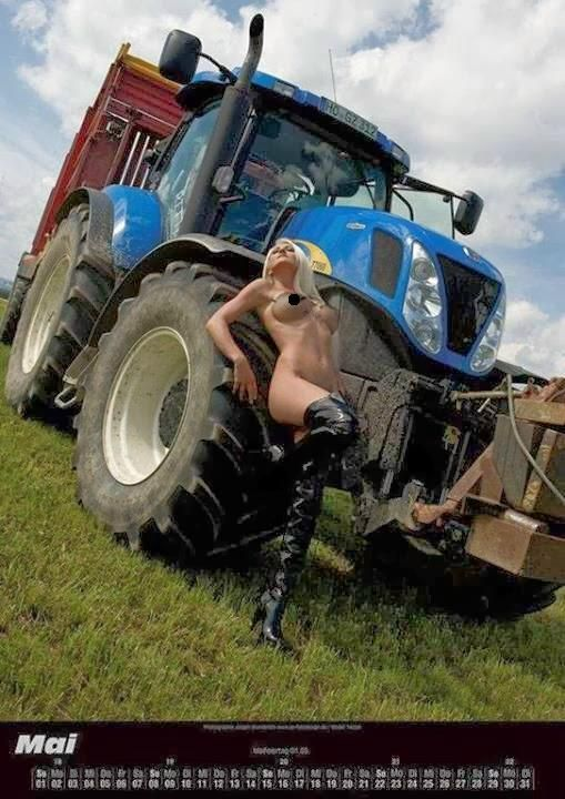 Hot Blonde Country Girls With Tractors Gears And Girls Scooter