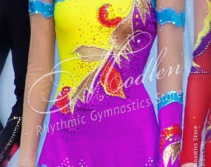 Collant #102: Ginástica Rítmica Collant, Gelo Patinação artística Vestido, Ginástica Acrobática, Traje, Macacão ou Vestido de Dança
