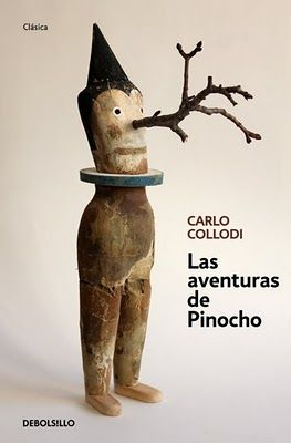 "Carlo Collodi.... not familiar with this artist but I like the concept of a ""Pinocchio"" type figure with an actual branch for the nose."