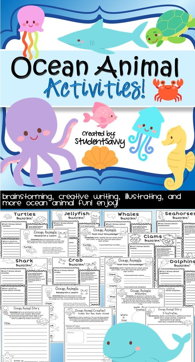1000 images about sea animals worksheets on pinterest shark activities life cycles and. Black Bedroom Furniture Sets. Home Design Ideas