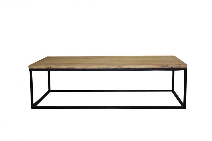 Industrial Coffee Table Rectangular Black