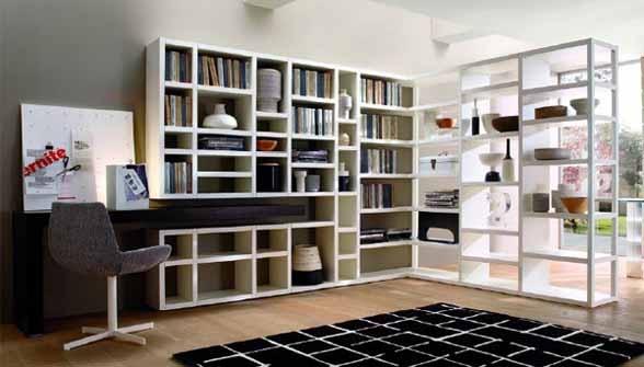 I love the way the desk integrates into the bookcase