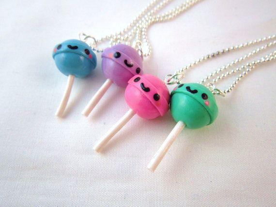 Kawaii Lolly Pop or DumDum Necklace Charm So easy!