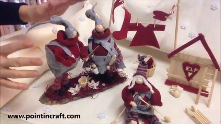 Stupendo Villaggio degli gnomi! Guarda il VIDEO TUTORIAL per scoprire come realizzarlo :) http://www.pointincraft.eu/it/natale/3231-kit-gnometta-sci.html?sea...