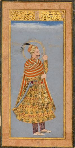 Sultan Abdullah Qutb Shah of Golconda. Deccan, Golconda. India, circa 1640. Opaque pigments with gold on paper. 19.1 x 8.7 cm