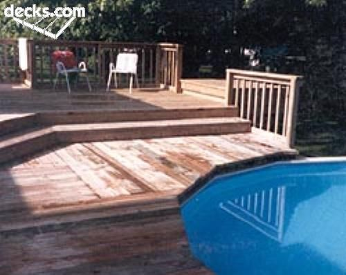 above ground pool deck great transition