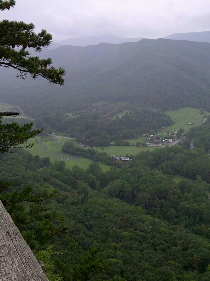 A view as I imagine Tamsen Littlejohn saw while crossing the Blue Ridge. View from top of Seneca Rocks in West Virginia via horseback by Lana Alexander Gammage