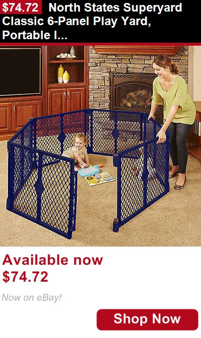 Baby Play pens and play yards: North States Superyard Classic 6-Panel Play Yard, Portable Indoor-Outdoor BUY IT NOW ONLY: $74.72