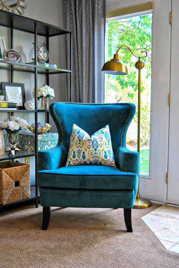 52 Awesome Blue Accent Chair Design Ideas And Inspiration Part 15 Vintage Living Room Blue Living Room Home Living Room