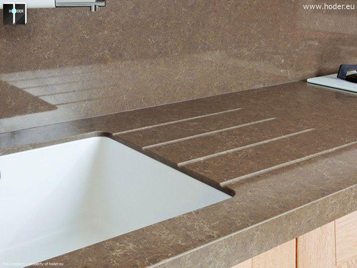 blat do kuchni z konglomeratu wraz z rowkami ociekowymi Blat do kuchni granitowy - realizacja Kraków  #kitchen #design #kuchnia #granite #marble