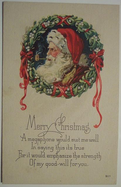 Vintage Christmas PostcardChristmas Cards, Vintage Postcards, Things Christmas, Vintage Christmas, Christmas Postcards, Merry Hoho, Postcards Santa, Christmas Vintage, Christmas Ideas