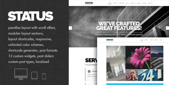 Status - Parallax and modular Theme - Portfolio Creative